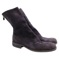Guidi Suede Distressed Zipped Boots 43