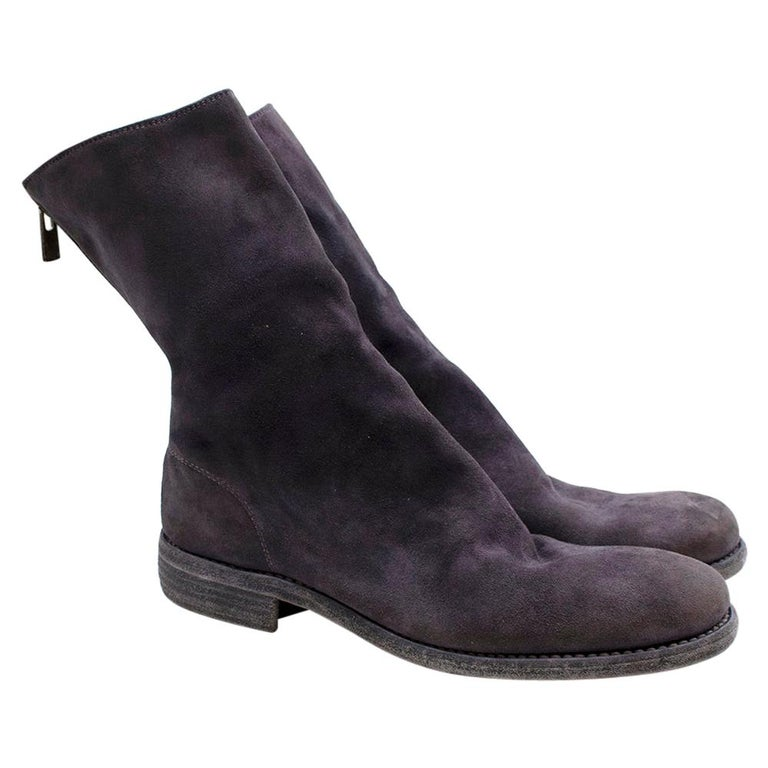 Guidi Suede Distressed Zipped Boots 43 For Sale