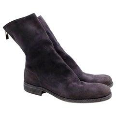 Guidi Suede Distressed Zipped Boots - Size EU 43