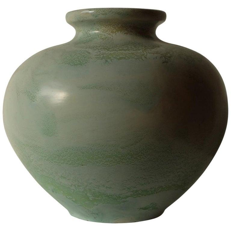 Guido Andlovitz Lavenia, Elegant Vase in Glazed Ceramic, 1930s For Sale