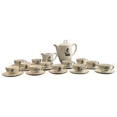 Guido Andlovitz Porcelain Coffee Service, 1930, Italy