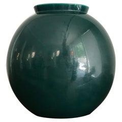 Guido Andloviz Italian Midcentury Green Ceramic Vase, 1950s