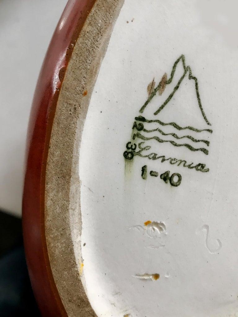 Guido Andloviz Italian Midcentury Orange Ceramic Vase, 1940s For Sale 2