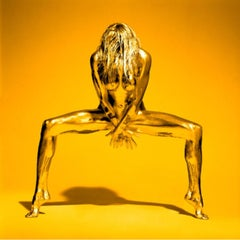 Golden Eye - woman covered with gold