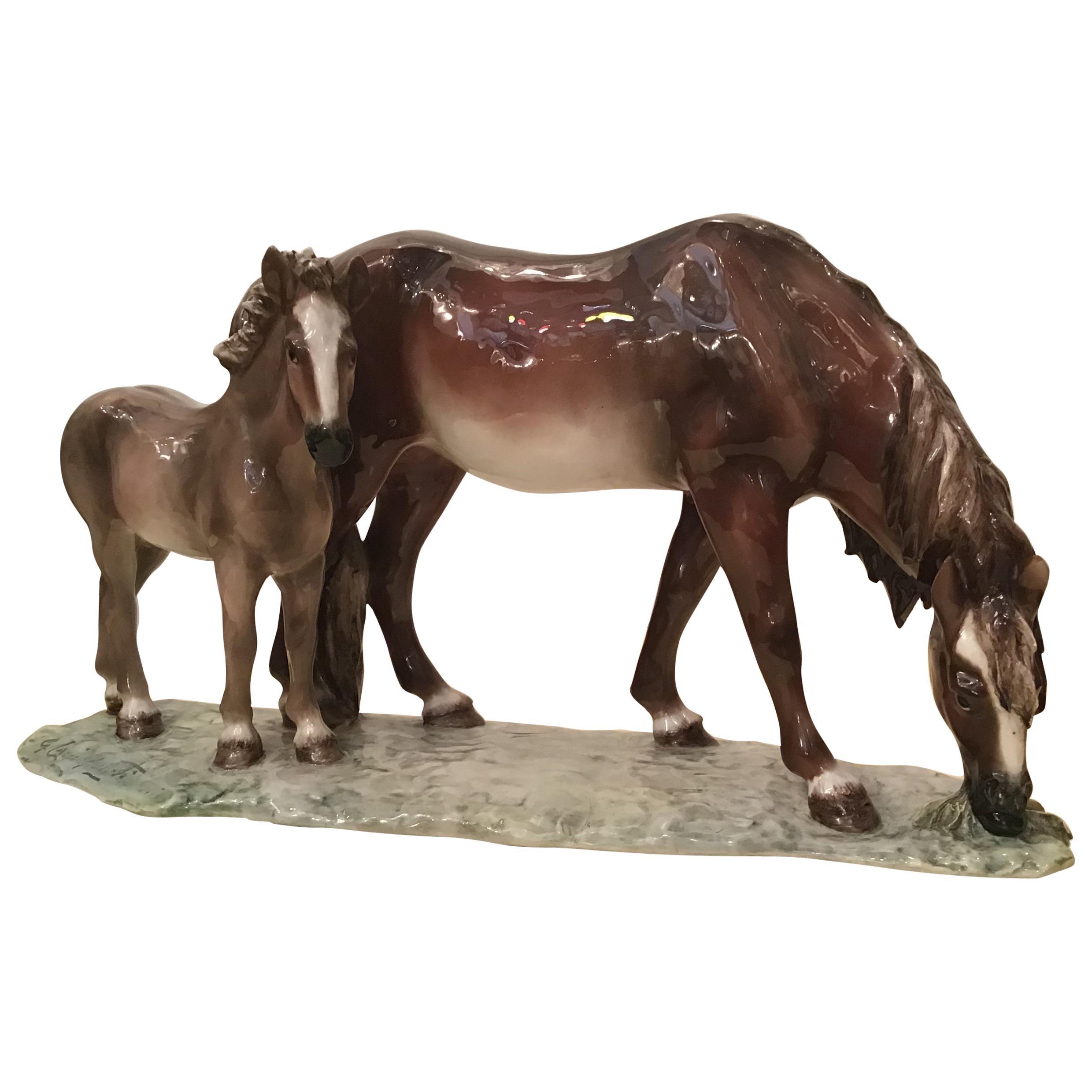 Guido Cacciapuoti Ceramic Horses, 1940