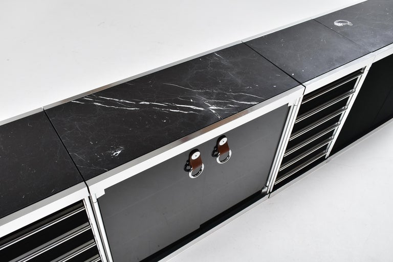 Guido Faleschini for Mariani, 5 Parts Sideboard For Hermès, France, 1970 For Sale 2