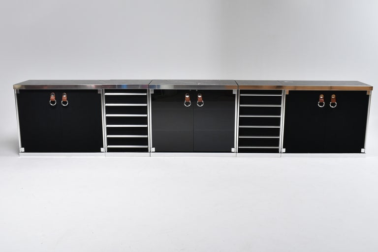 Guido Faleschini for Mariani, 5 Parts Sideboard For Hermès, France, 1970 For Sale 5