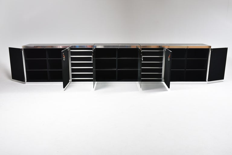 Guido Faleschini for Mariani, 5 Parts Sideboard For Hermès, France, 1970 For Sale 6