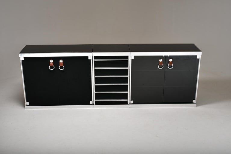 Guido Faleschini for Mariani, 5 Parts Sideboard For Hermès, France, 1970 For Sale 7
