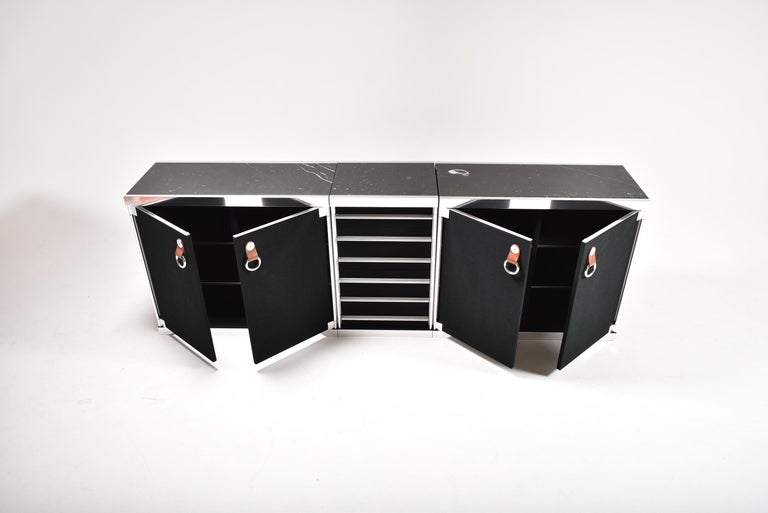 Guido Faleschini for Mariani, 5 Parts Sideboard For Hermès, France, 1970 For Sale 8