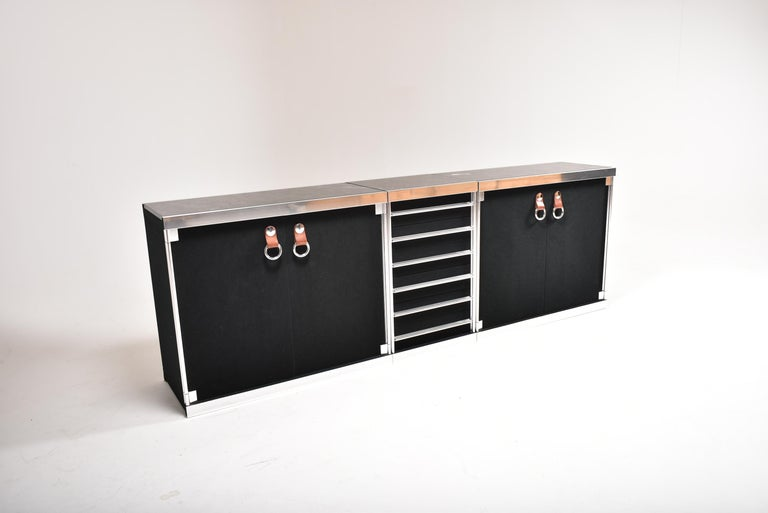 Guido Faleschini for Mariani, 5 Parts Sideboard For Hermès, France, 1970 For Sale 9