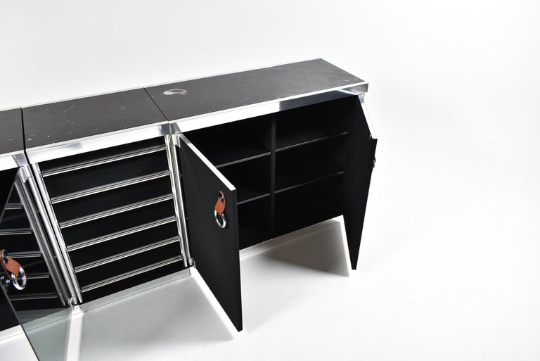 Guido Faleschini for Mariani, 5 Parts Sideboard For Hermès, France, 1970 For Sale 10