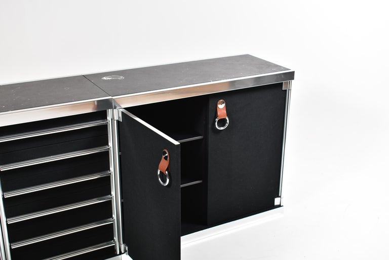 Guido Faleschini for Mariani, 5 Parts Sideboard For Hermès, France, 1970 For Sale 11