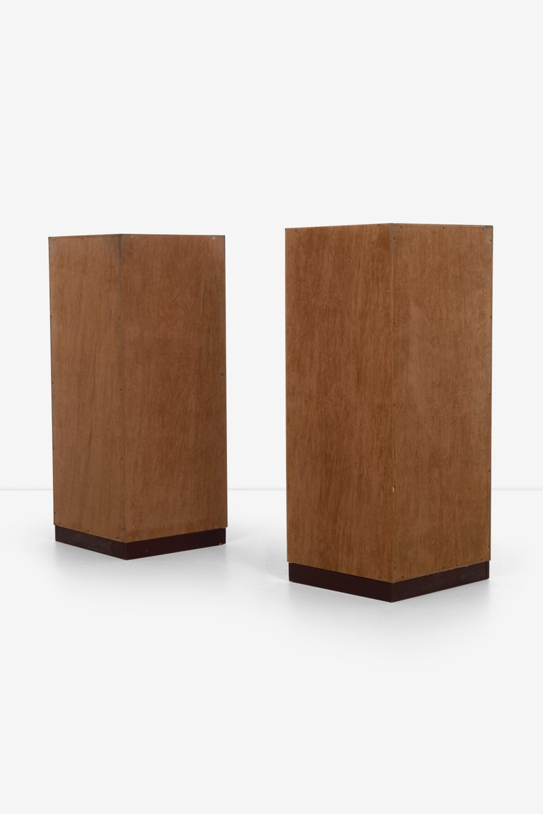 Leather Guido Faleschini for Mariani Pace Collection, Pair of Cabinets For Sale
