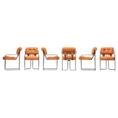 Guido Faleschini Set of Six 'Tucroma' Chairs in Cognac Leather