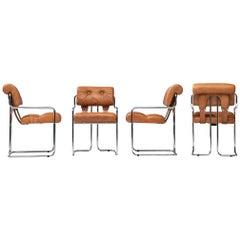 Guido Faleschini 'Tucroma' Chairs in Cognac Leather
