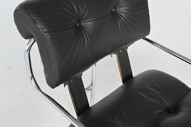 Guido Faleschini Tucroma Dining Chairs i4 Mariani, Italy, 1970 For Sale 4