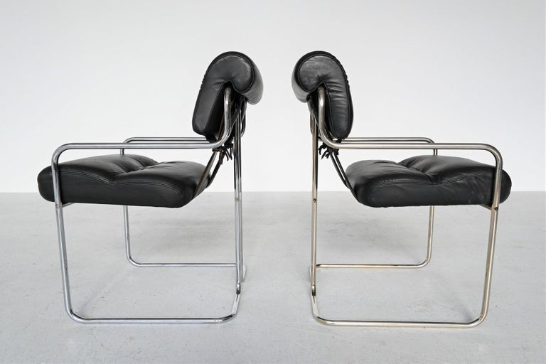 Guido Faleschini Tucroma Dining Chairs i4 Mariani, Italy, 1970 For Sale 7