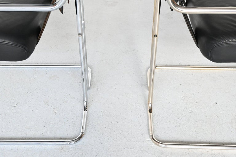 Guido Faleschini Tucroma Dining Chairs i4 Mariani, Italy, 1970 For Sale 8