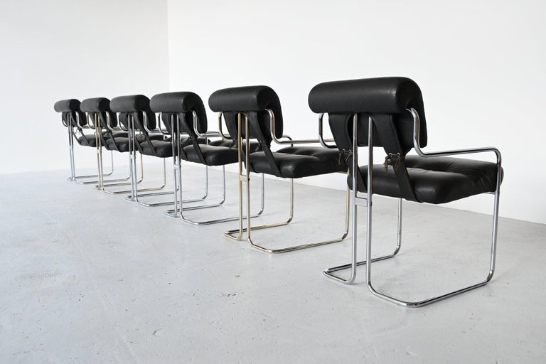 Mid-Century Modern Guido Faleschini Tucroma Dining Chairs i4 Mariani, Italy, 1970 For Sale