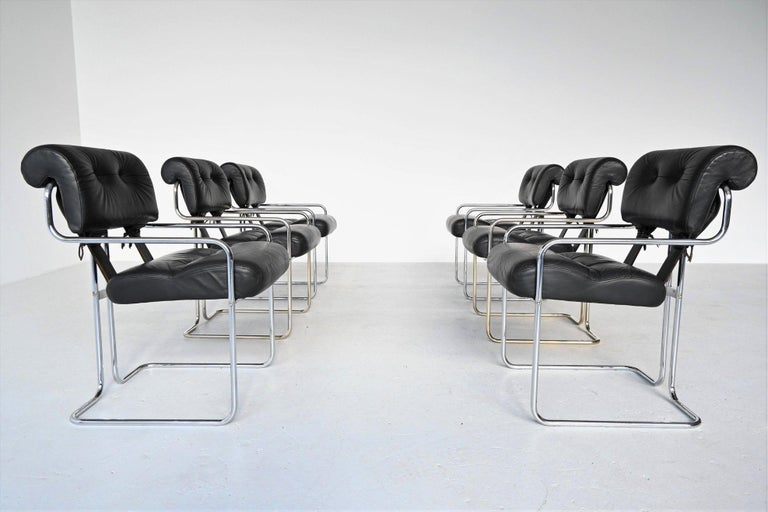 Italian Guido Faleschini Tucroma Dining Chairs i4 Mariani, Italy, 1970 For Sale