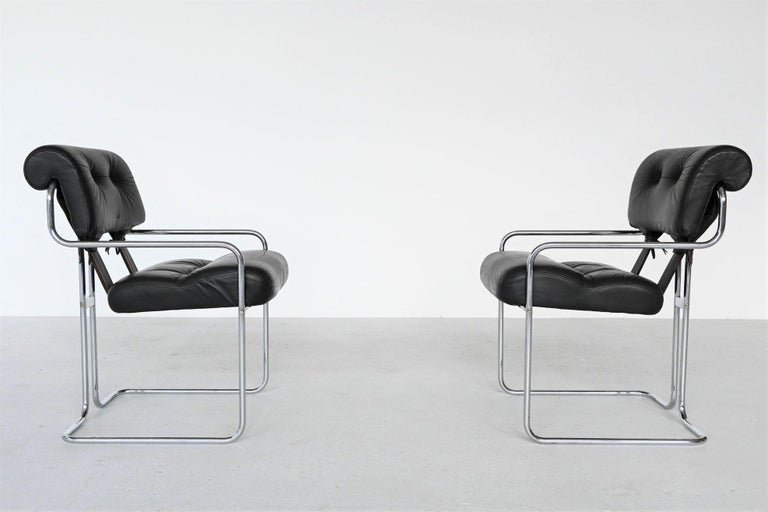 Late 20th Century Guido Faleschini Tucroma Dining Chairs i4 Mariani, Italy, 1970 For Sale