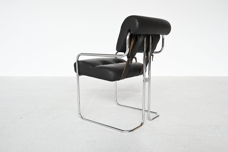 Guido Faleschini Tucroma Dining Chairs i4 Mariani, Italy, 1970 For Sale 2