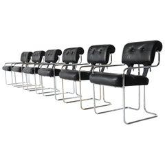 Guido Faleschini Tucroma Dining Chairs i4 Mariani, Italy, 1970