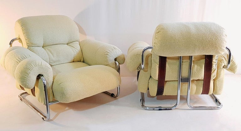 Mid-Century Modern Guido Faleschini Tucroma Lounge Chairs for Mariani For Sale