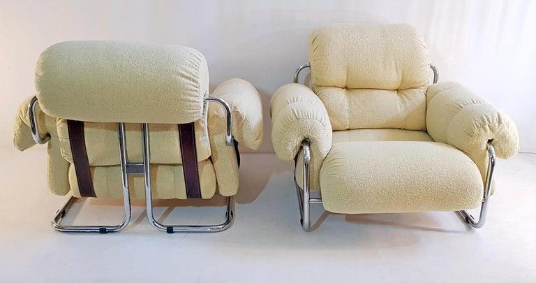 Guido Faleschini Tucroma Lounge Chairs for Mariani In Good Condition For Sale In Albano Laziale, Rome/Lazio