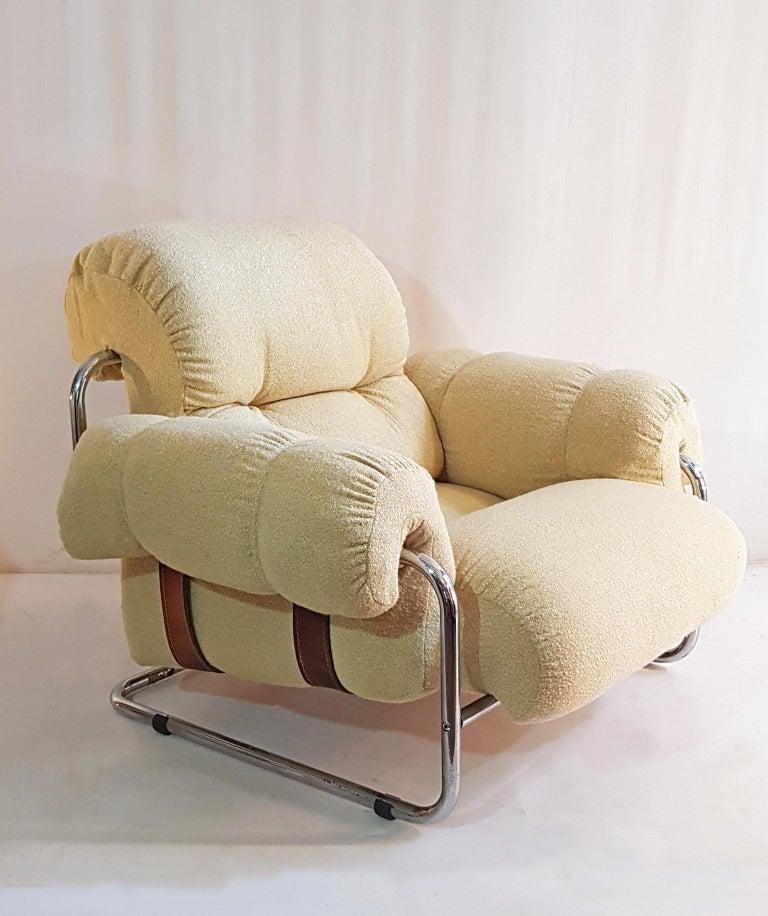 Fabric Guido Faleschini Tucroma Lounge Chairs for Mariani For Sale