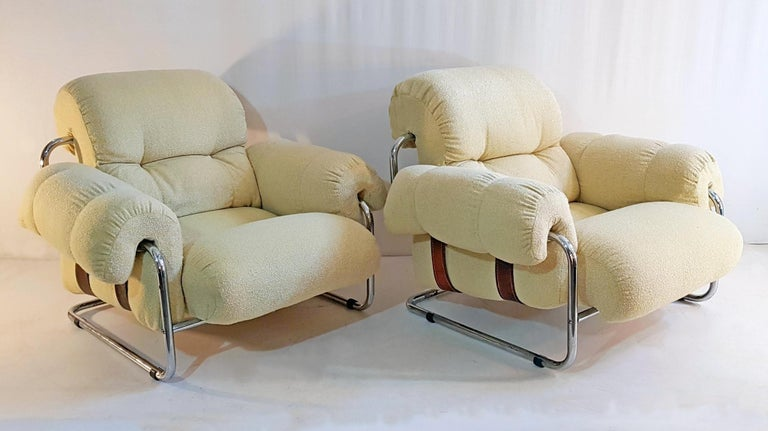 Guido Faleschini Tucroma Lounge Chairs for Mariani For Sale 1