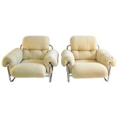 Guido Faleschini Tucroma Lounge Chairs for Mariani