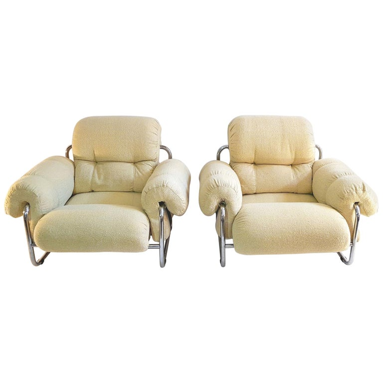 Guido Faleschini Tucroma Lounge Chairs for Mariani For Sale