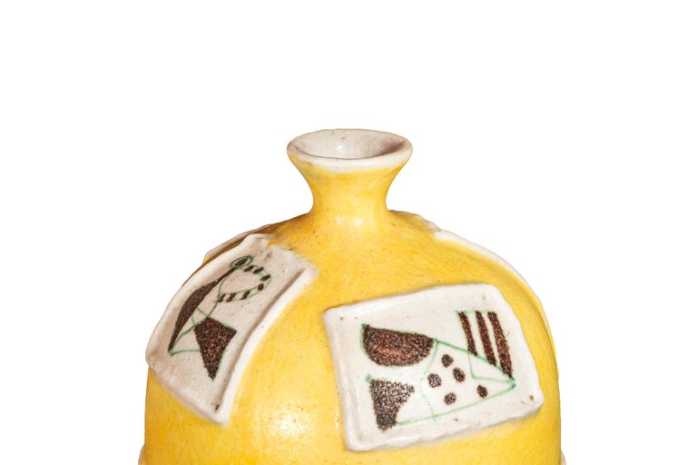 Mid-Century Modern Guido Gambone, Ceramic, Signed, Italy, circa 1950 For Sale