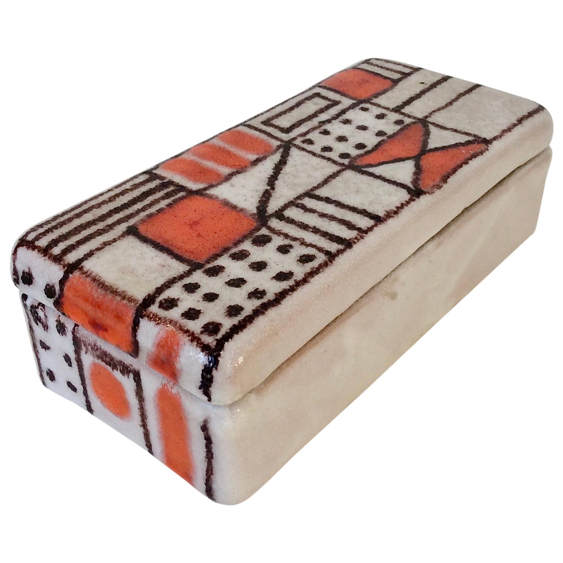 Guido Gambone Ceramic Box, circa 1950, Italy
