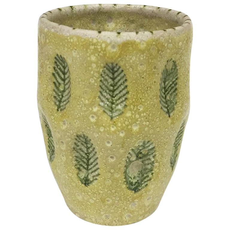 Guido Gambone Italian Ceramist, Cylindrical vase, 1950s