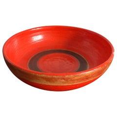 Guido Gambone Italian Mid-Century Modern Design Centerpiece Ceramic Bowl, 1950s