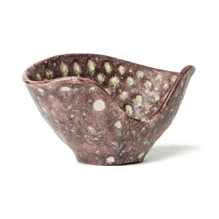 Guido Gambone Italian Volcanic Glazed Bowl, Mid-20th Century 2