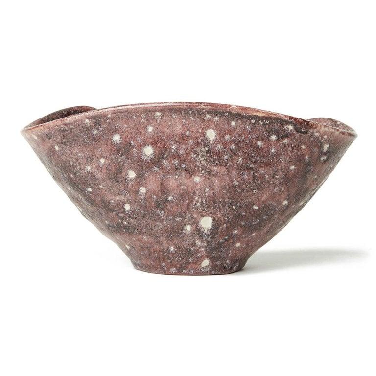 Guido Gambone Italian Volcanic Glazed Bowl, Mid-20th Century 3