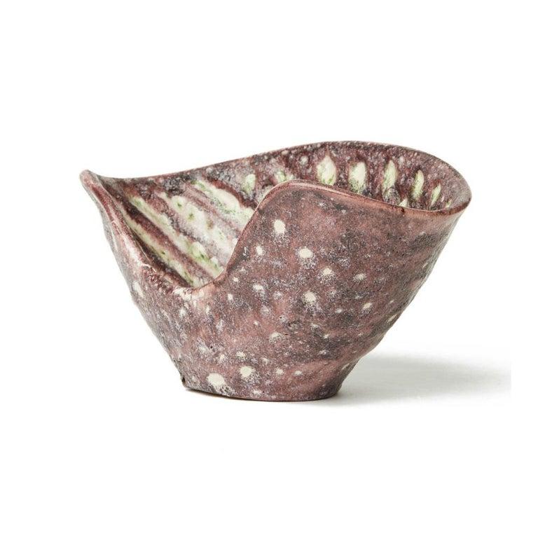 Guido Gambone Italian Volcanic Glazed Bowl, Mid-20th Century 4