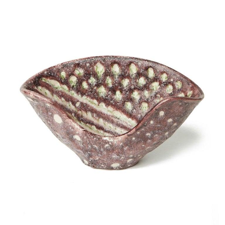 Guido Gambone Italian Volcanic Glazed Bowl, Mid-20th Century 5