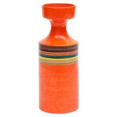 Guido Gambone Large Orange Ceramic Vase