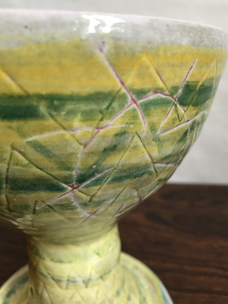 Glazed Guido Gambone Midcentury Italian Ceramic Vase, 1950s For Sale