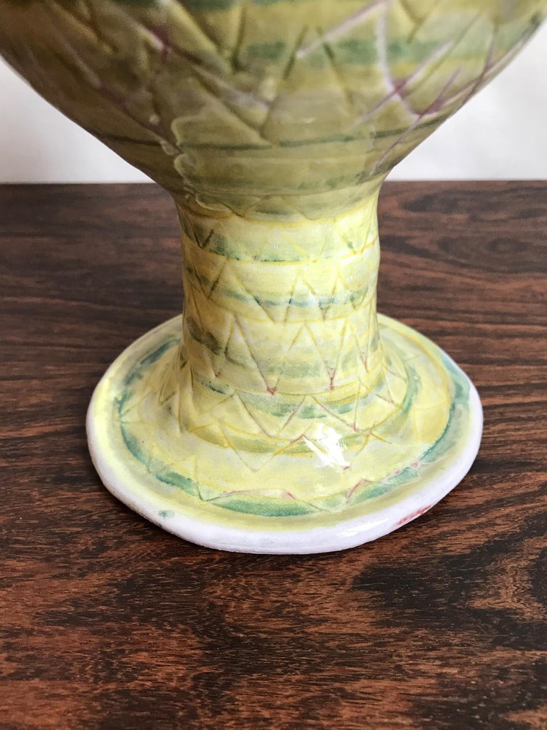 Guido Gambone Midcentury Italian Ceramic Vase, 1950s In Good Condition For Sale In Modena, IT