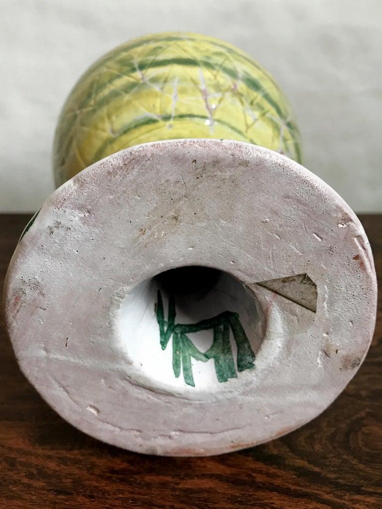 Mid-20th Century Guido Gambone Midcentury Italian Ceramic Vase, 1950s For Sale
