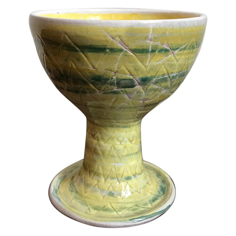Guido Gambone Midcentury Italian Ceramic Vase, 1950s For Sale