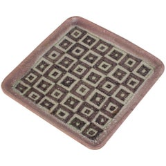 Guido Gambone Square Ceramic Tray