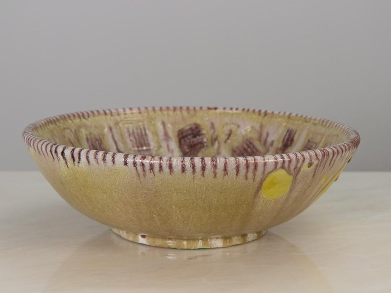Mid-Century Modern Guido Gambone Centerpiece Bowl For Sale