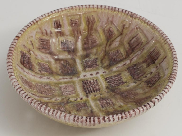 Guido Gambone Centerpiece Bowl In Good Condition For Sale In Brooklyn, NY
